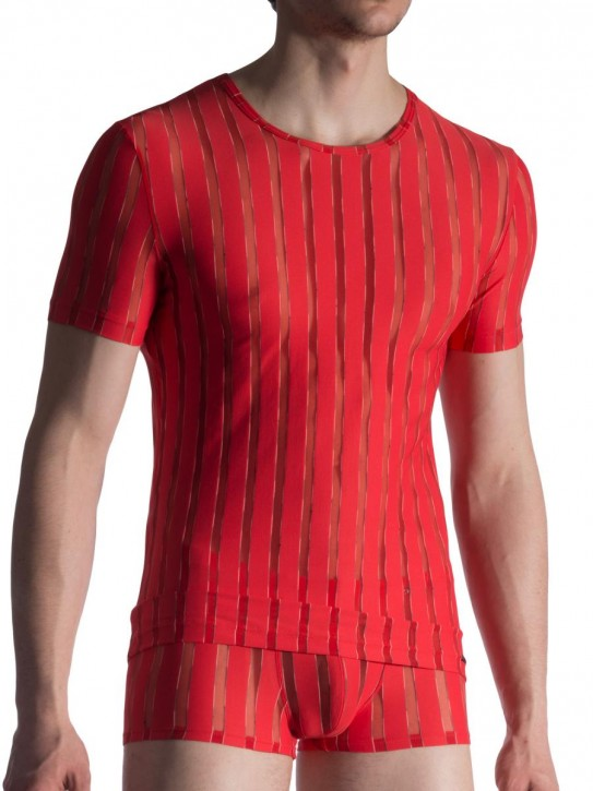 Olaf Benz RED1816 T-Shirt rosso (85% Polyamid, 10% Elasthan, 5% Polyester)