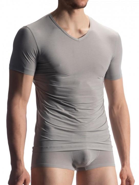 Olaf Benz RED1902 V-Shirt silver (79% Polyamid, 13% Elasthan, 8% Polyester)
