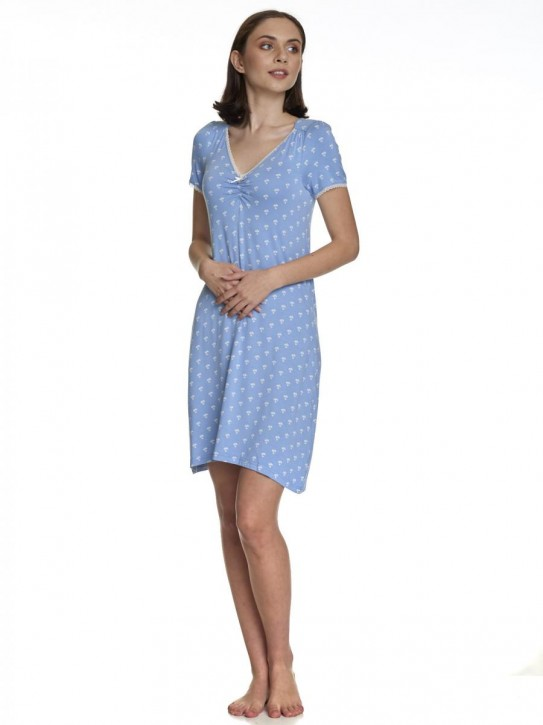 VIVE MARIA Anna's Wish Nightdress blau (95% Viskose, 5% Elasthan)