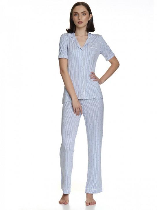 VIVE MARIA Seaside Pyjama blau (95% Viskose, 5% Elasthan)