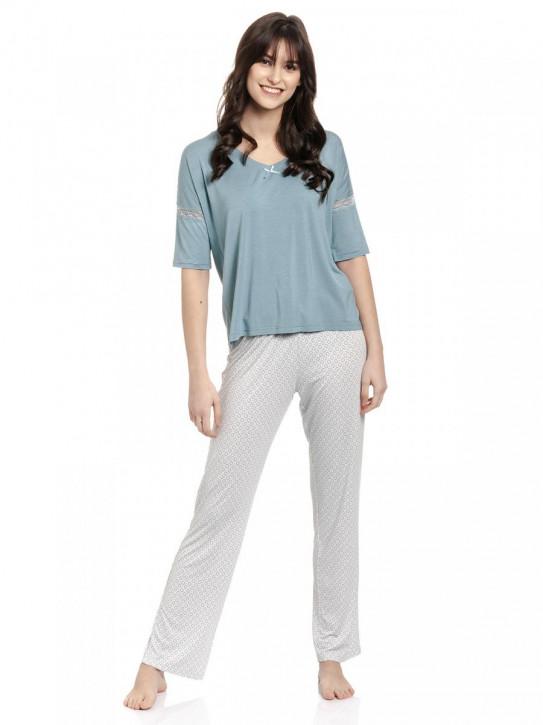 VIVE MARIA Blue Sugar Pyjama (95% Viskose, 5% Elasthan)