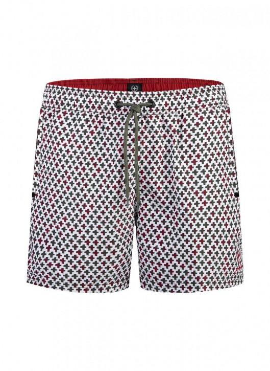 STRELLSON 551091 Swim Shorts weiß/print (100% Polyester)