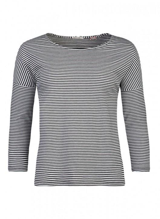 SHORT STORIES 620753 Shirt 3/4-Arm geringelt (93% Baumwolle, 7% Elasthan)