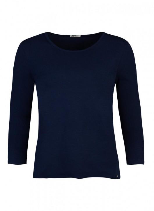 SHORT STORIES 620768 Shirt 3/4-Arm blau (93% Baumwolle, 7% Elasthan)