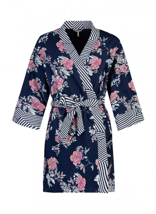 SHORT STORIES 620784 Kimono blau (95% Baumwolle, 5% Elasthan)