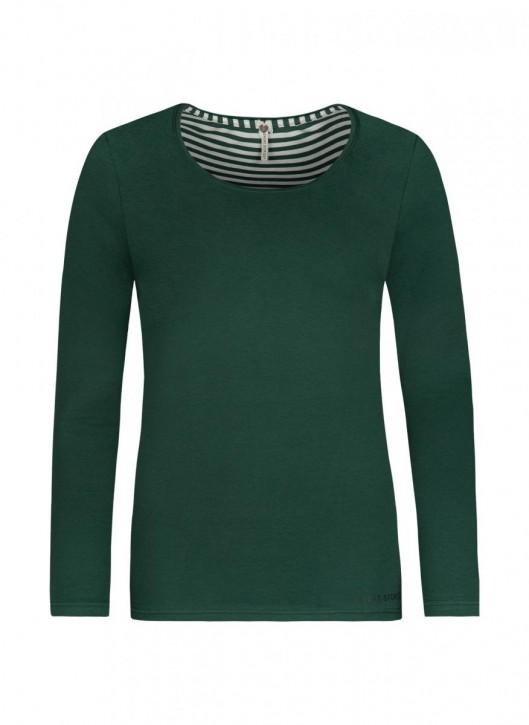SHORT STORIES 621002 Shirt grün/uni (93% Baumwolle, 7% Elasthan)