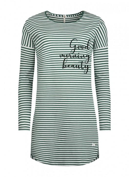 SHORT STORIES 621005 Long Shirt grün/stripes (93% Baumwolle, 7% Elasthan)