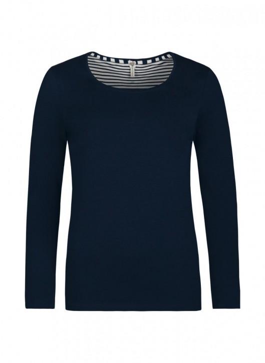 SHORT STORIES 621045 Shirt blau/uni (93% Baumwolle, 7% Elasthan)