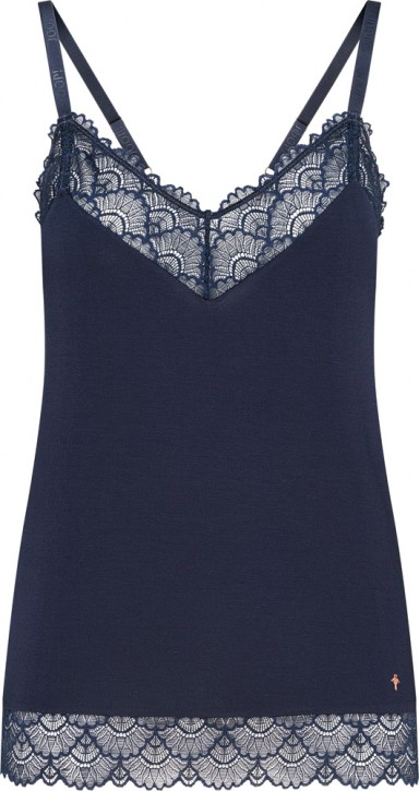 JOOP! Sheer Luxury Top midnight (96% Modal, 4% Elasthan)