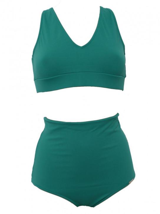 WASSERSTOFF High Waist Bikini Sophisticated jade (80% Polyamid, 20% Elasthan)