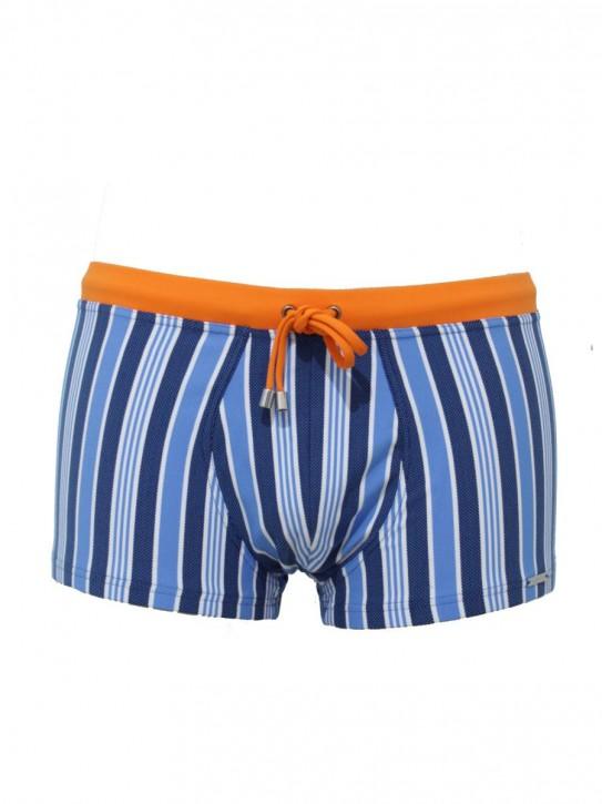 WASSERSTOFF Pant Stripes blue-blue-wh-(mandarina) (88% Polyamid, 12% Elasthan)