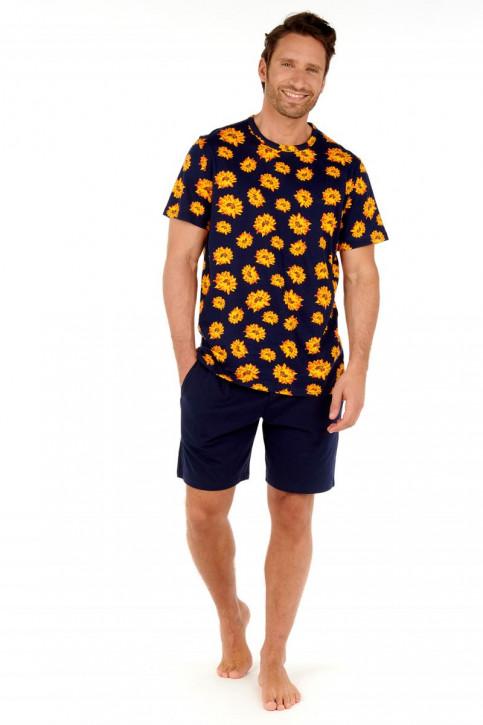 HOM Luberon Short Pyjama navy print (100% Baumwolle)