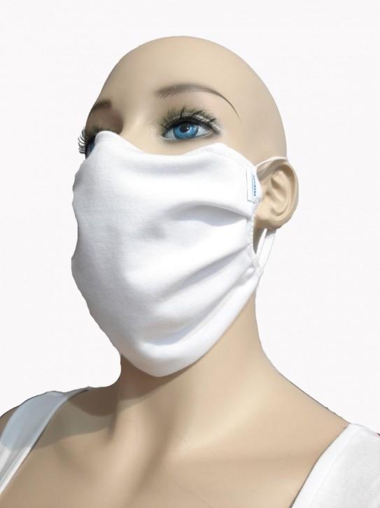 Mund-Nase-Maske von Naturana, weiß, 100% Baumwolle