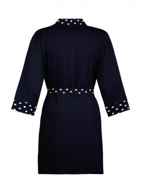 SHORT STORIES 621230 Kimono dark blue (47% Baumwolle, 47% Modal, 6% Elasthan) S