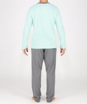 HOM Captain Pyjama türkis (100% Baumwolle) XL