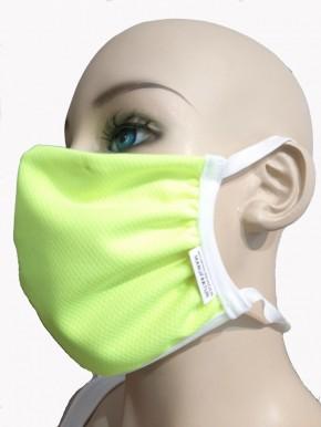 Mund-Nase-Maske von WONNEBERGER MANUFAKTUR, neongelb, 100% Polyester (Coolmax© ) 2-Pack